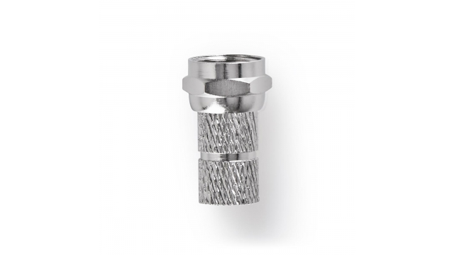 Nedis CSBW41901ME F-connector Male 7,0 Mm Twist-on Metaal