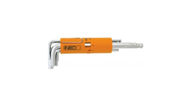 Neo Tools Inbusset 2,0-10mm, Din 911, Iso 2936, S2 Staal