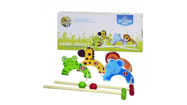 Outdoor Play Dieren Croquet Set