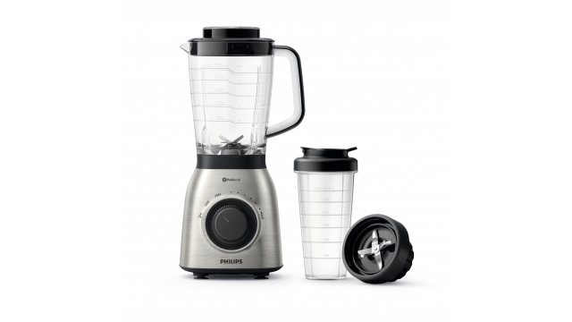 Philips HR3553/00 ProBlend 6 Blender + Flesaccessoire RVS/Zwart