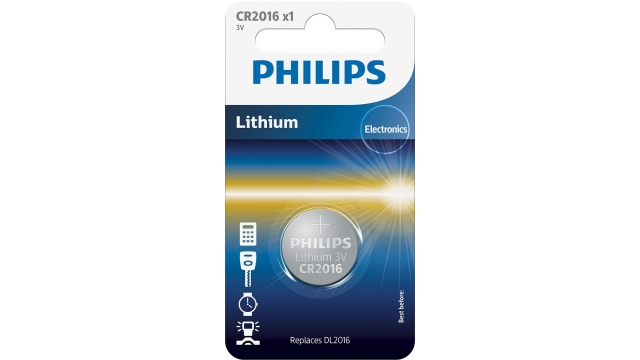 Philips CR2016 Lithium Batterij 3V
