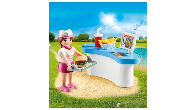 Playmobil 70084 Dienster met Kassa in een Ei