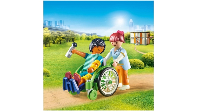 Playmobil 70193 City Life Patient in Rolstoel