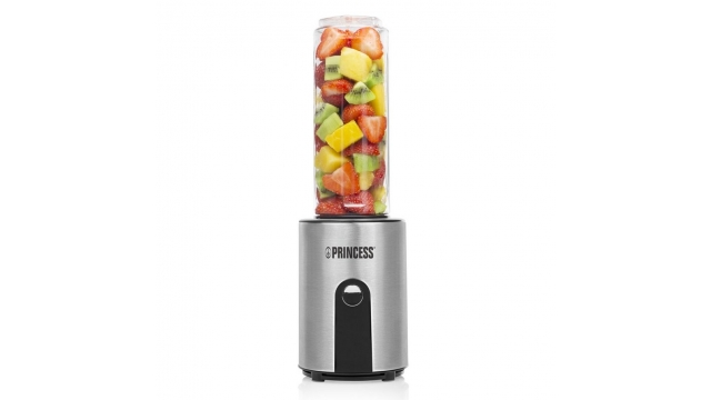Princess 217401 Blender To Go 300W 600 ml Zwart/RVS/Transparant