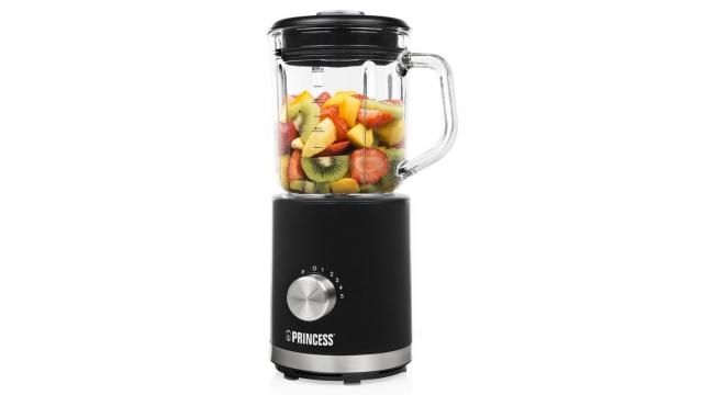 Princess 212078 Compact Blender 500W 800 ml Zwart/Transparant