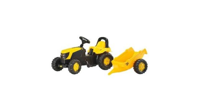 Rolly Toys 012619 RollyKid JCB Tractor + Aanhanger