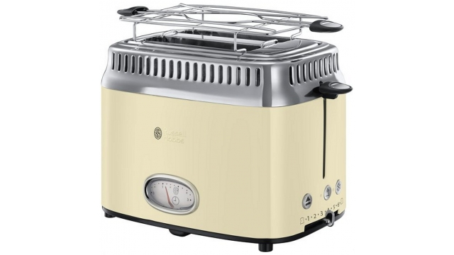 Russell Hobbs 21682-56 Retro Vintage Broodrooster Crème/RVS