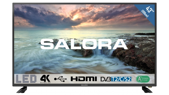 Salora 43UHL2800 LCD/LED TV + USB Mediaspelers 109cm