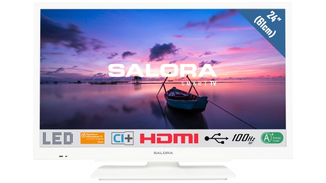 Salora 24HDW6515 HD LED TV/DVD Combi 61 cm Wit