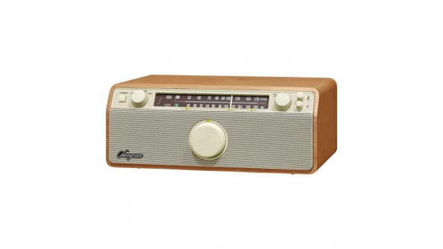 Sangean WR-12 Genuine 120 Retro FM/AM-Radio Hout/Wit