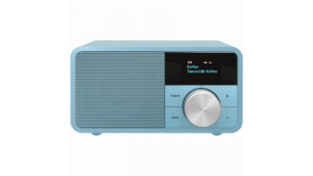 Sangean DDR-7 Genuine Mini DAB-Radio Hout/Blauw