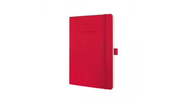 Sigel SI-CO324 Notitieboek Conceptum Pure Softcover A5 Rood Geruit