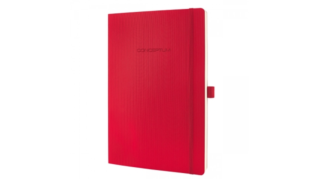 Sigel SI-CO314 Notitieboek Conceptum Pure Softcover A4 Rood Geruit