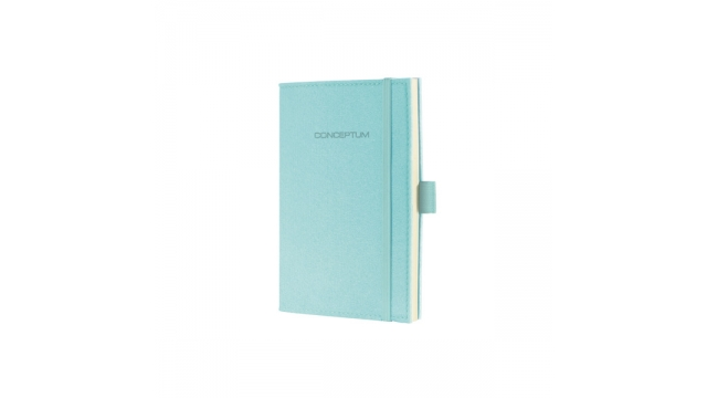 Sigel SI-CO587 Notitieboek Conceptum Look Felt A6 Blanco Softcover Lichtblauw