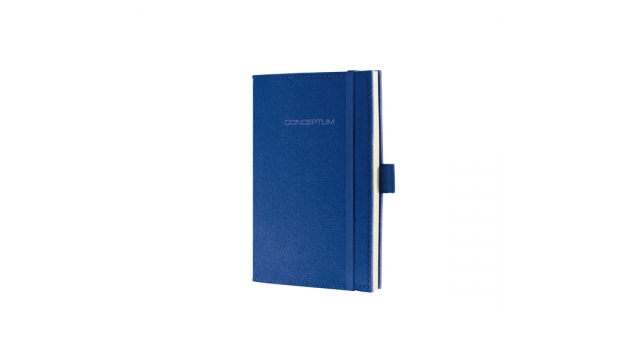 Sigel SI-CO584 Notitieboek Conceptum Look Felt A6 Blanco Softcover Koningsblauw