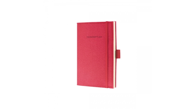 Sigel SI-CO582 Notitieboek Conceptum Look Felt A6 Blanco Softcover Rood