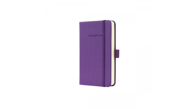 Sigel SI-CO560 Notitieboek Conceptum Pure Hardcover A6 Paars Geruit