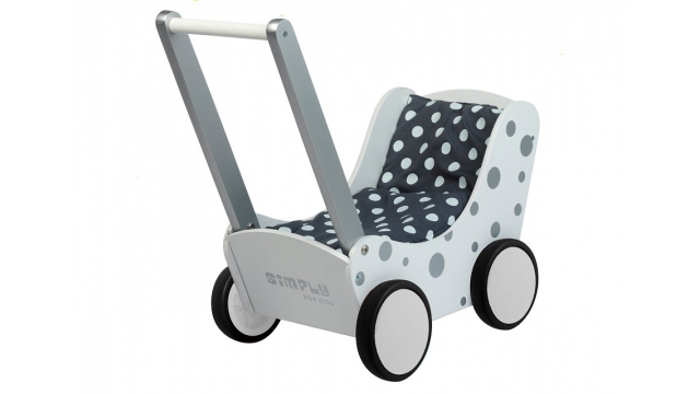 Simply for Kids Poppenwagen Stippeltje Zilver
