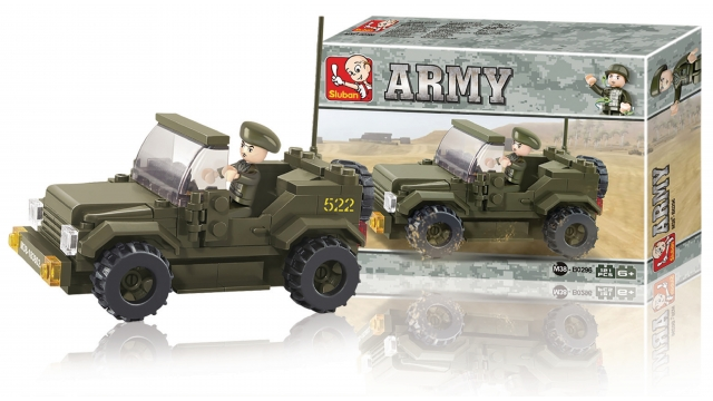 Sluban M38-B0296 Army Jeep