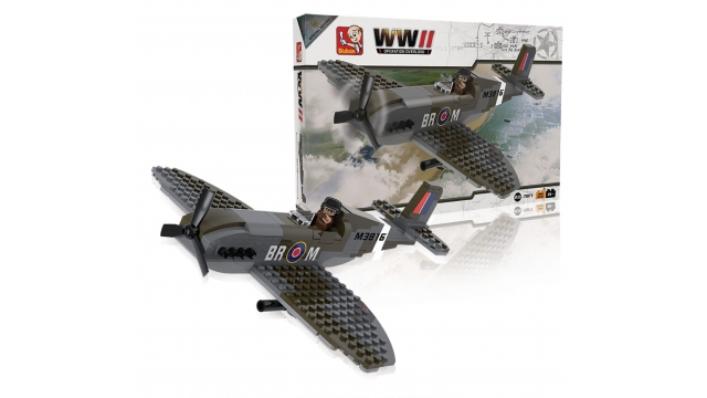 Sluban M38-70071 WWII Operation Overlord Spitfire