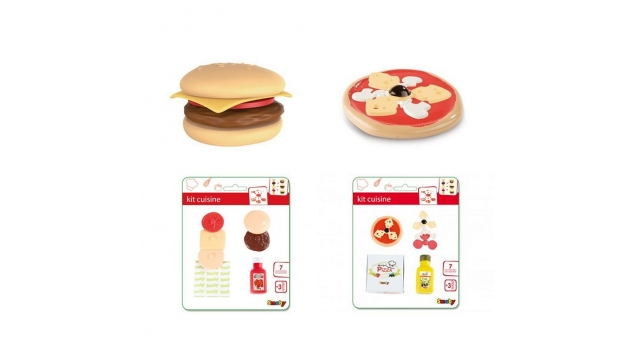 Smoby Pizza/Hamburger Set Assorti