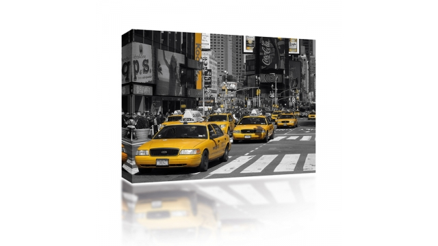 Sound Art Canvas + Bluetooth Speaker Taxi's In New York