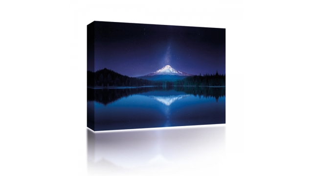 Sound Art Canvas + Bluetooth Speaker Mountain Reflection At Night