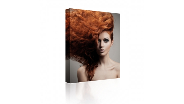 Sound Art Canvas + Bluetooth Speaker Lady With Red Hair