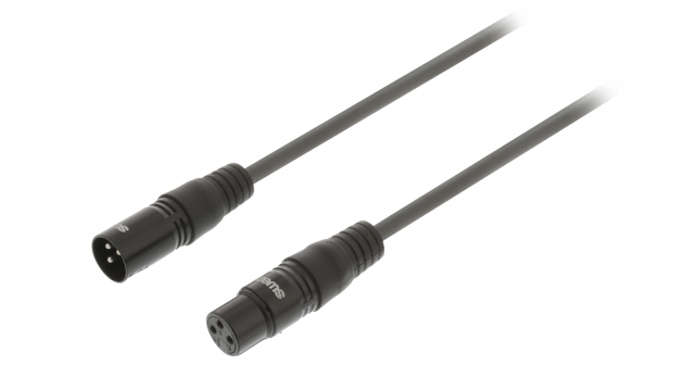 Sweex SWOP15012E50 Xlr Digitale Kabel Xlr 3-pins Male - Xlr 3-pins Female 5.0 M Donkergrijs
