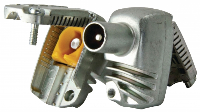 Televes F4312422 Coax Connector Male Metaal Zilver
