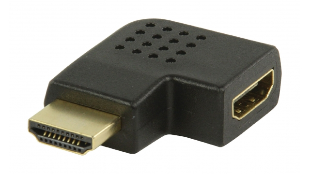 Valueline VGVP34903B High Speed Hdmi Met Ethernet Adapter Links Gehoekt Hdmi-connector - Hdmi-ingang Zwart