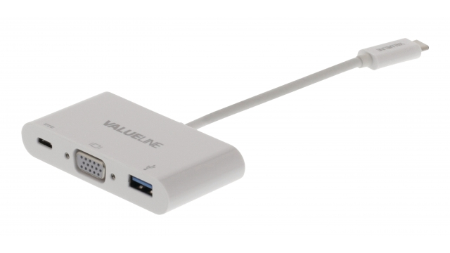 Valueline VLCP64760W02 Usb 3.1 Adapter Usb-c Male - Usb A Female / Usb-c Female / Vga Female 15-pins Wit