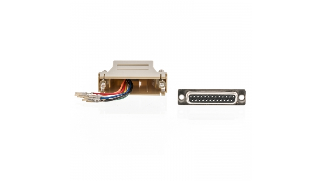 Valueline VLCP52822I Seriële Adapter Sub-d 25-pins Male - Rj45 (8/8) Female Ivoor