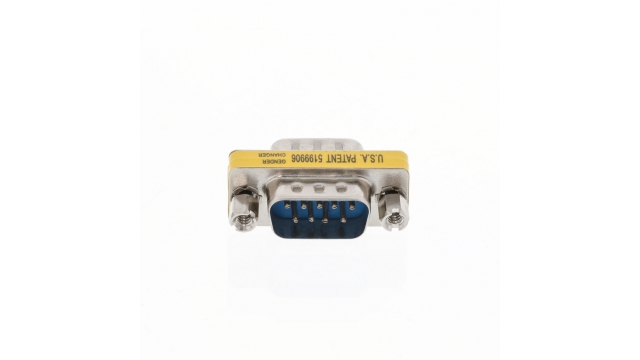 Valueline VLCP52811M Seriële Adapter Sub-d 9-pins Male - Sub-d 9-pins Male Metaal